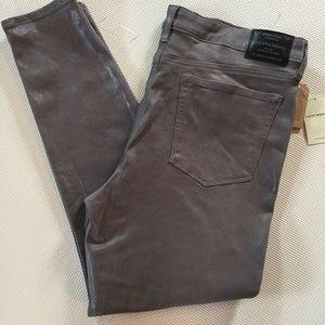 Lucky Brand Womens Ava Skinny Slim Jeans Metallic